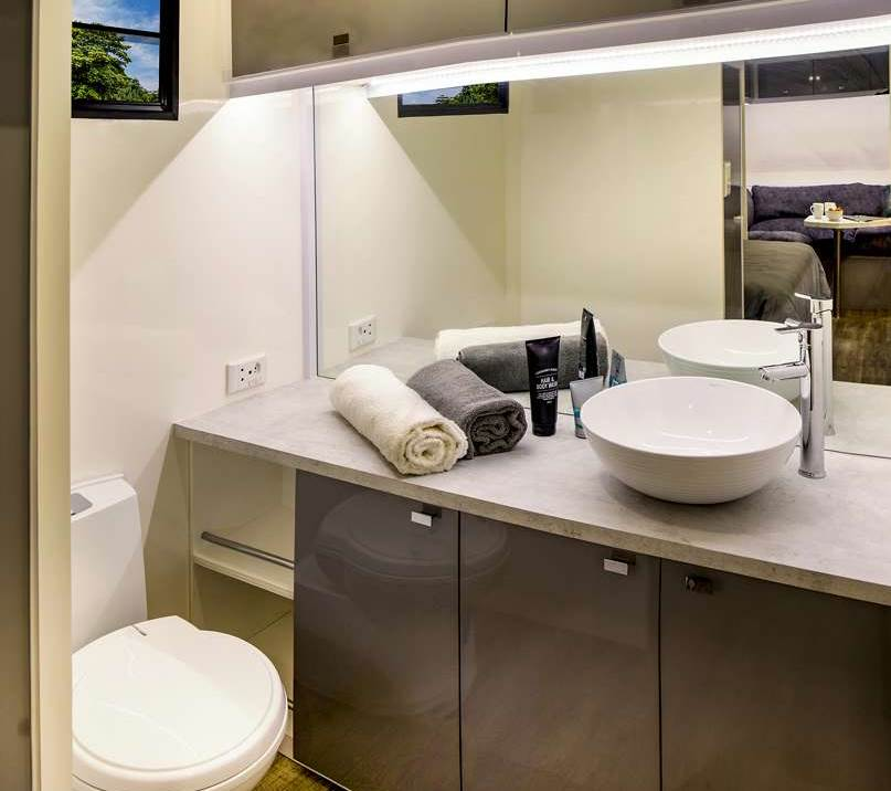 Bathroom Facility in Cruiser Caravan