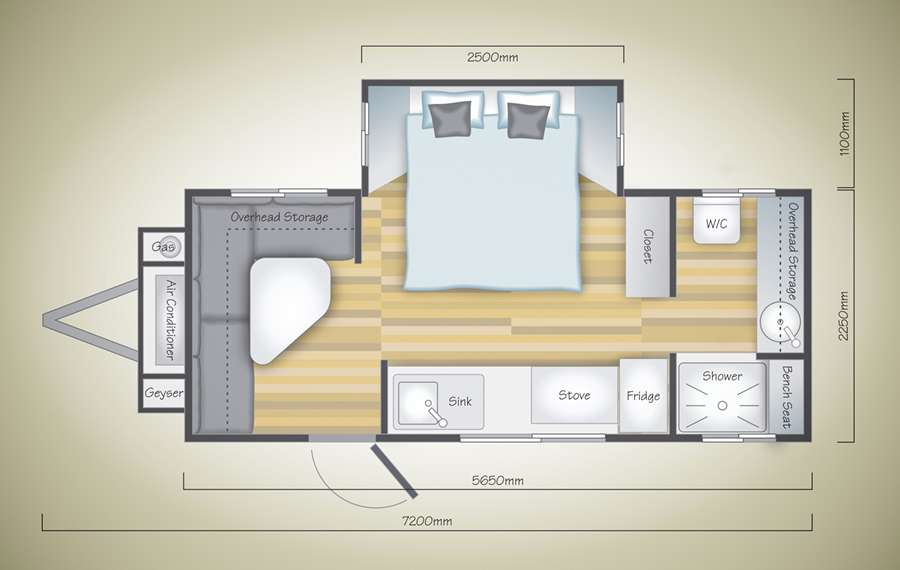 Floor Plan - Liberty Cruiser Off Road Caravan